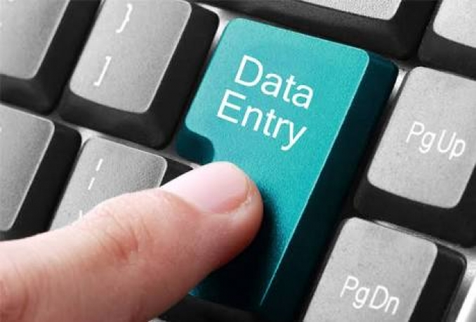 do data entry