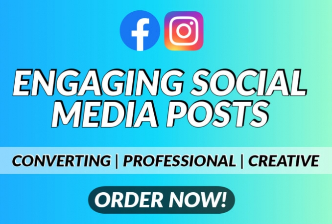 be your social media marketing manager and content creator