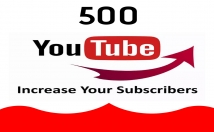 Give You 500 Youtube Lifetime Guaranteed No Drop Permanent Subscriebrs
