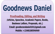 write, edit and proofread your write-up